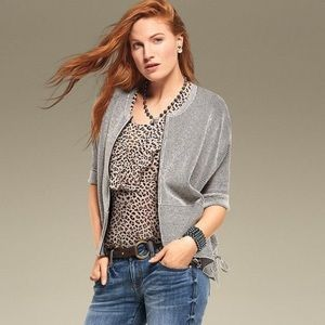 Cabi gray Cupid's Cardi style 3526 size XL.